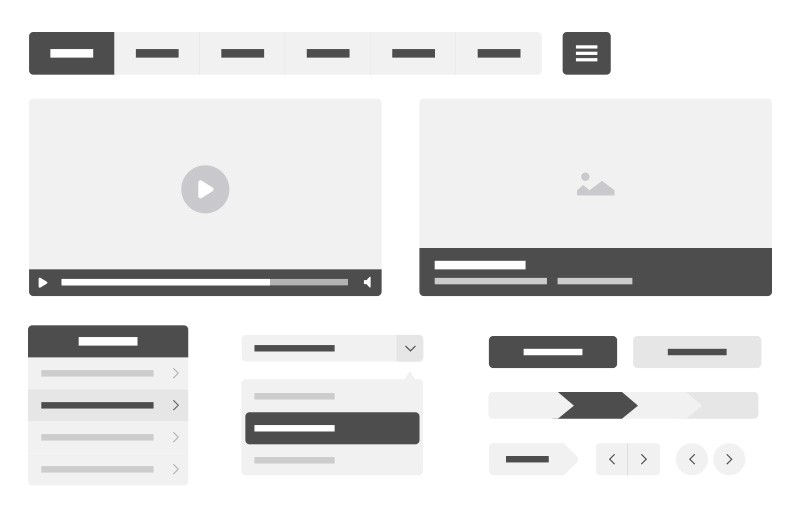 Vector  Wireframe  Kit  Preview 1