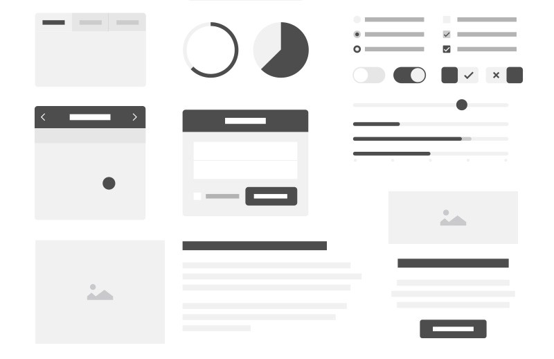 Vector  Wireframe  Kit  Preview 2A