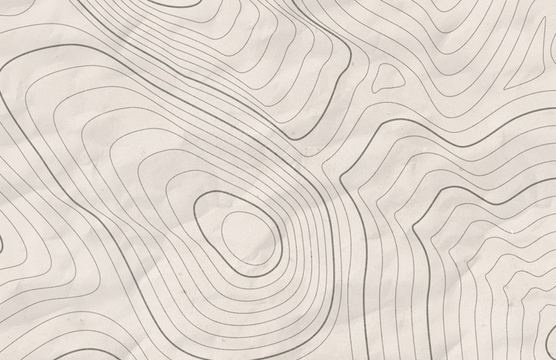 Vector Topographic Map Contours