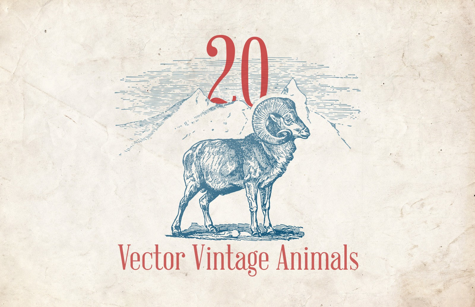Vector Vintage Animals Preview 1