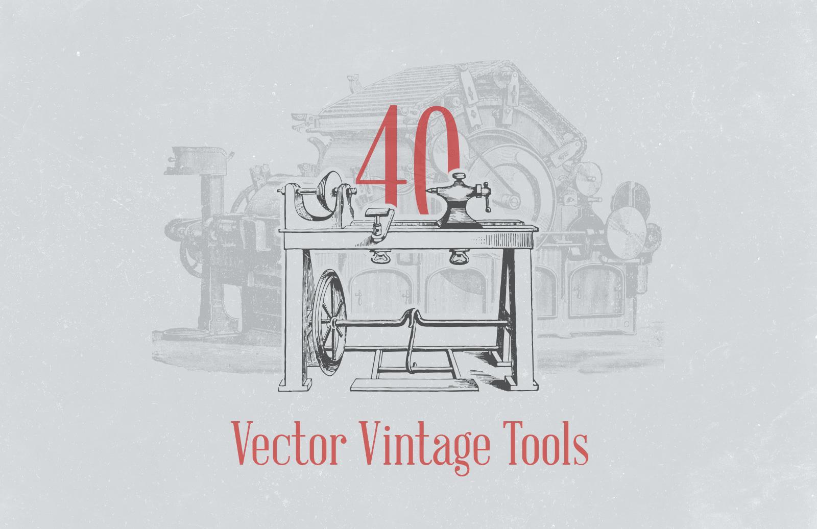 Vector Vintage Tool Illustrations