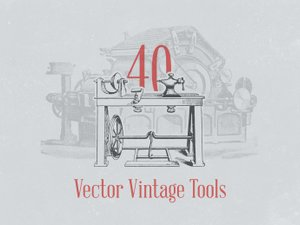 Vector Vintage Tool Illustrations 1