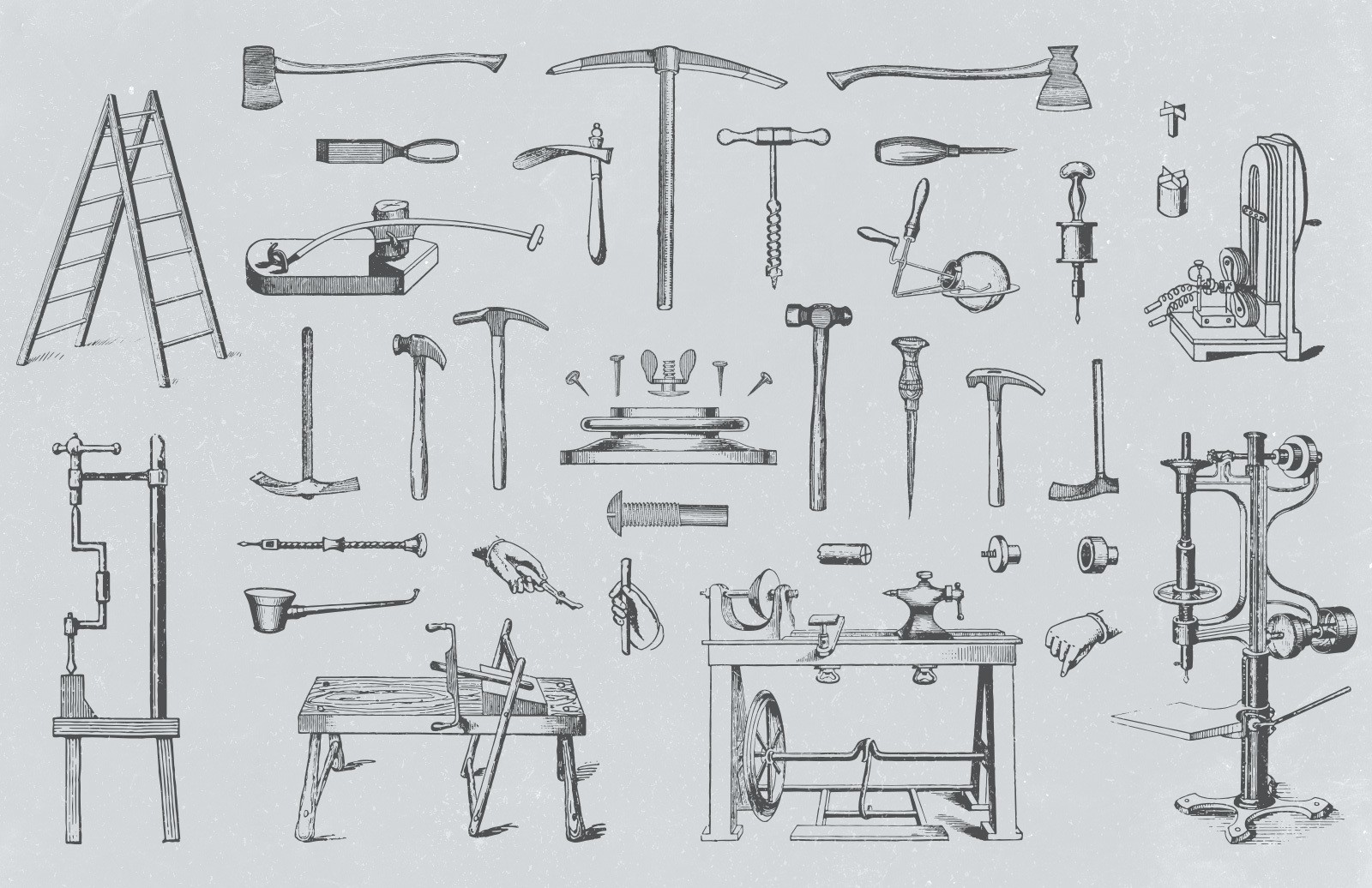 Vector Vintage Tool Illustrations 2