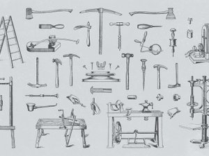 Vector Vintage Tool Illustrations 2