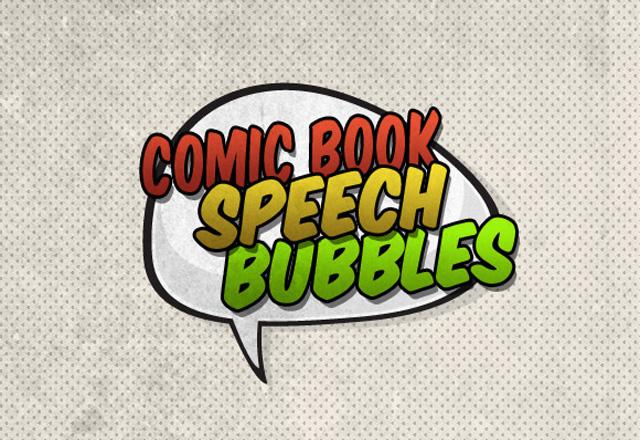 Vector Comic Book Speech Bubbles