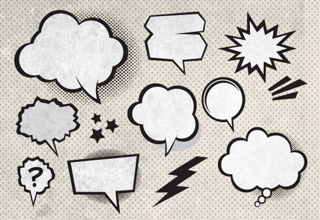 Vector Comic Book Speech Bubbles 2