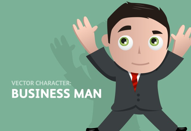 Vector Business Man Character