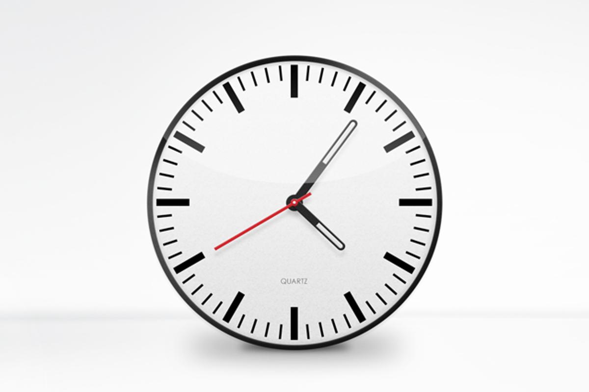 Free Clock Face Vector PSD — Medialoot