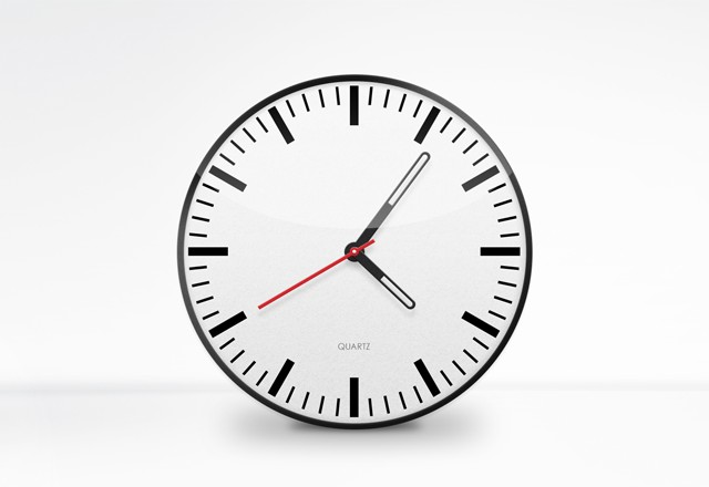 Free Clock Face Vector PSD
