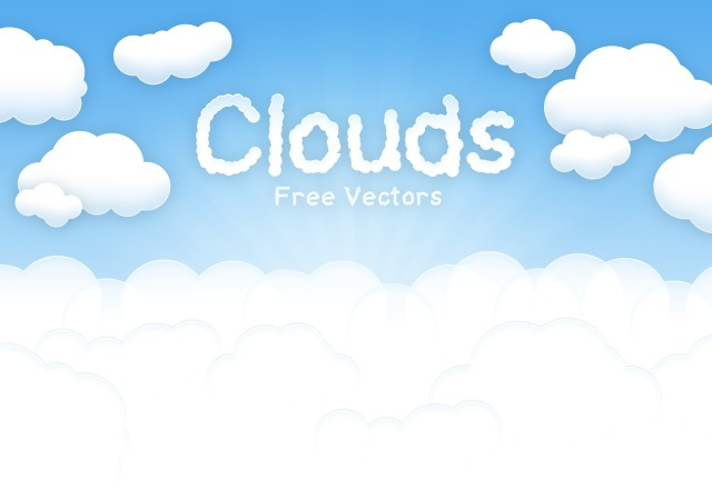 Free Vector Clouds 1