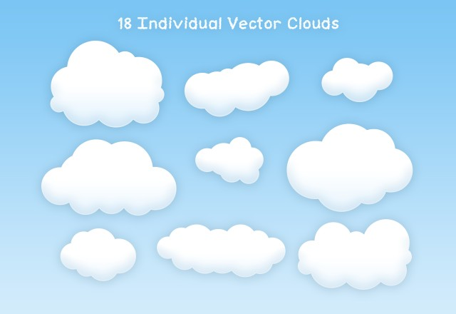 Free Vector Clouds 2