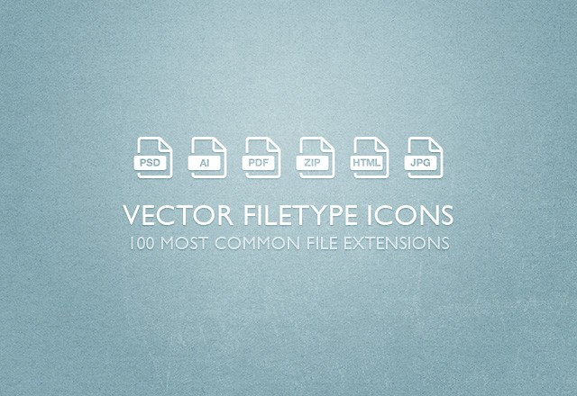 Free Vector Filetype Icons