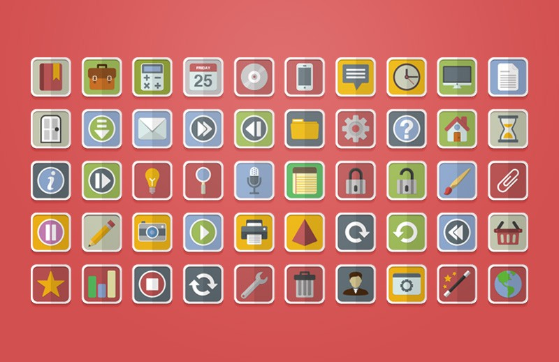 Free Flat Vector Icons 1