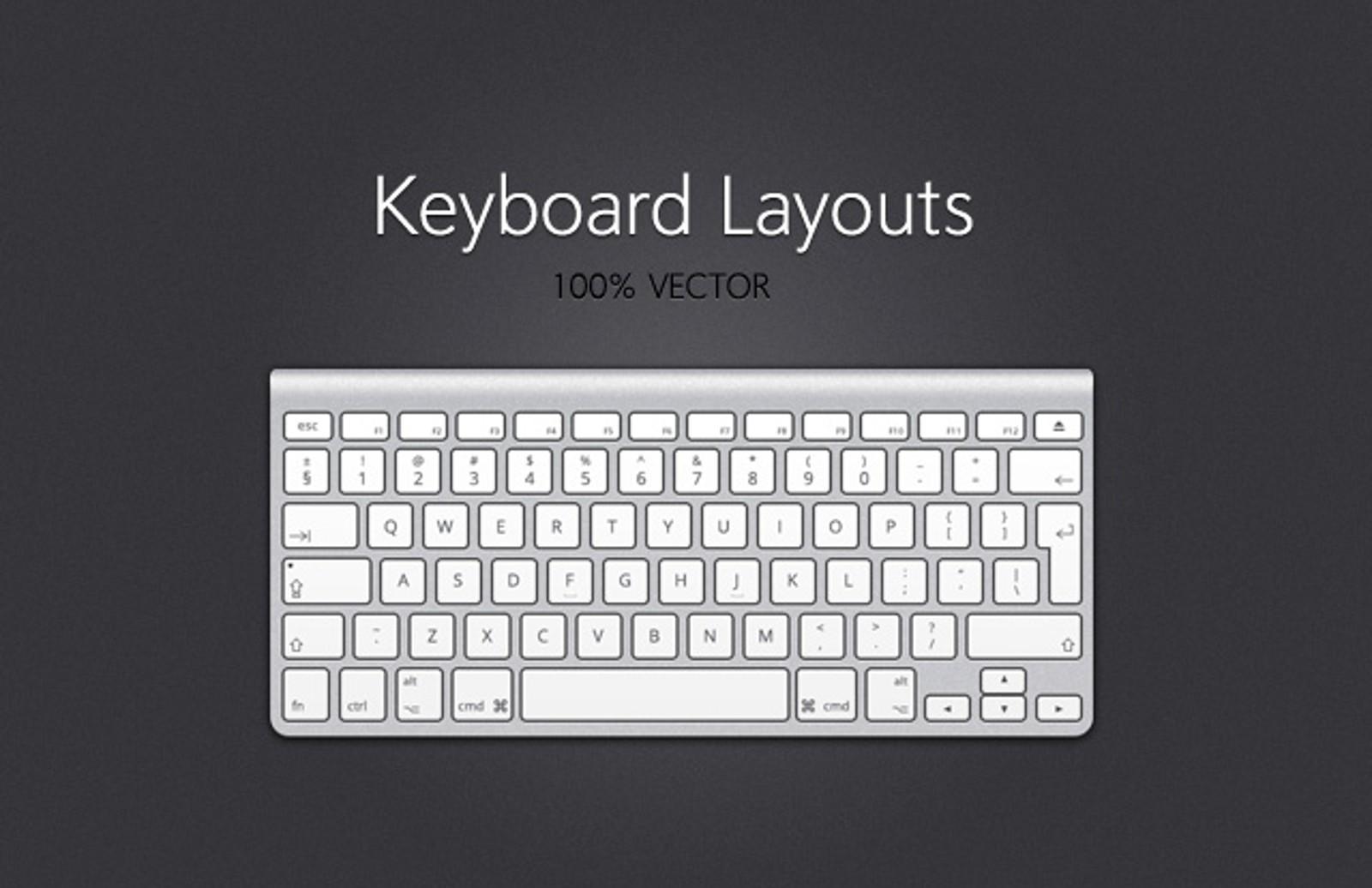 Vector Keyboard Layouts
