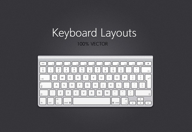 Vector Keyboard Layouts