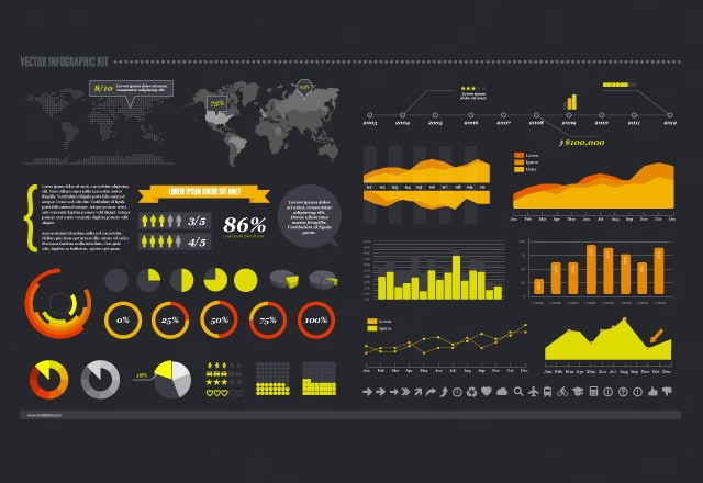 Large Vector  Infographic  Kit  Preview2