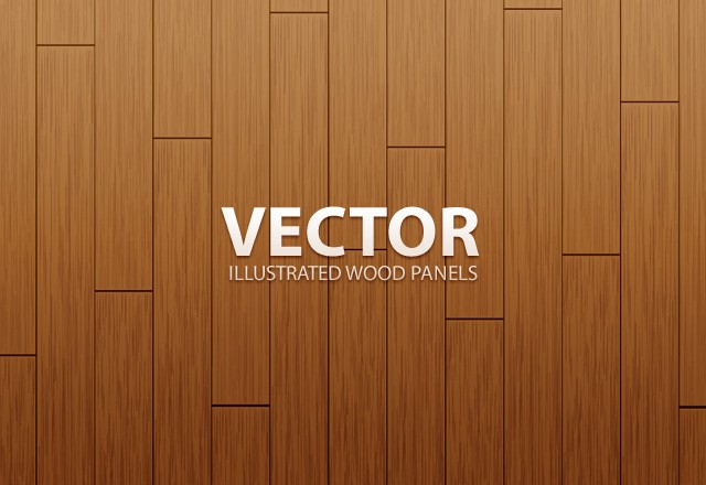Vector Illustrated Wood Panels