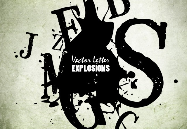Vector Letter Explosions