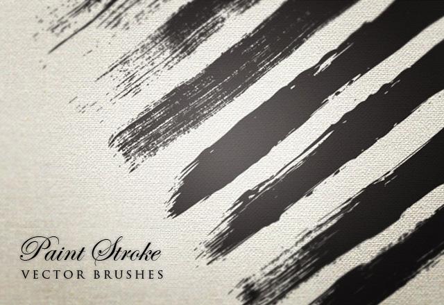 Paint Stroke Vector Brushes