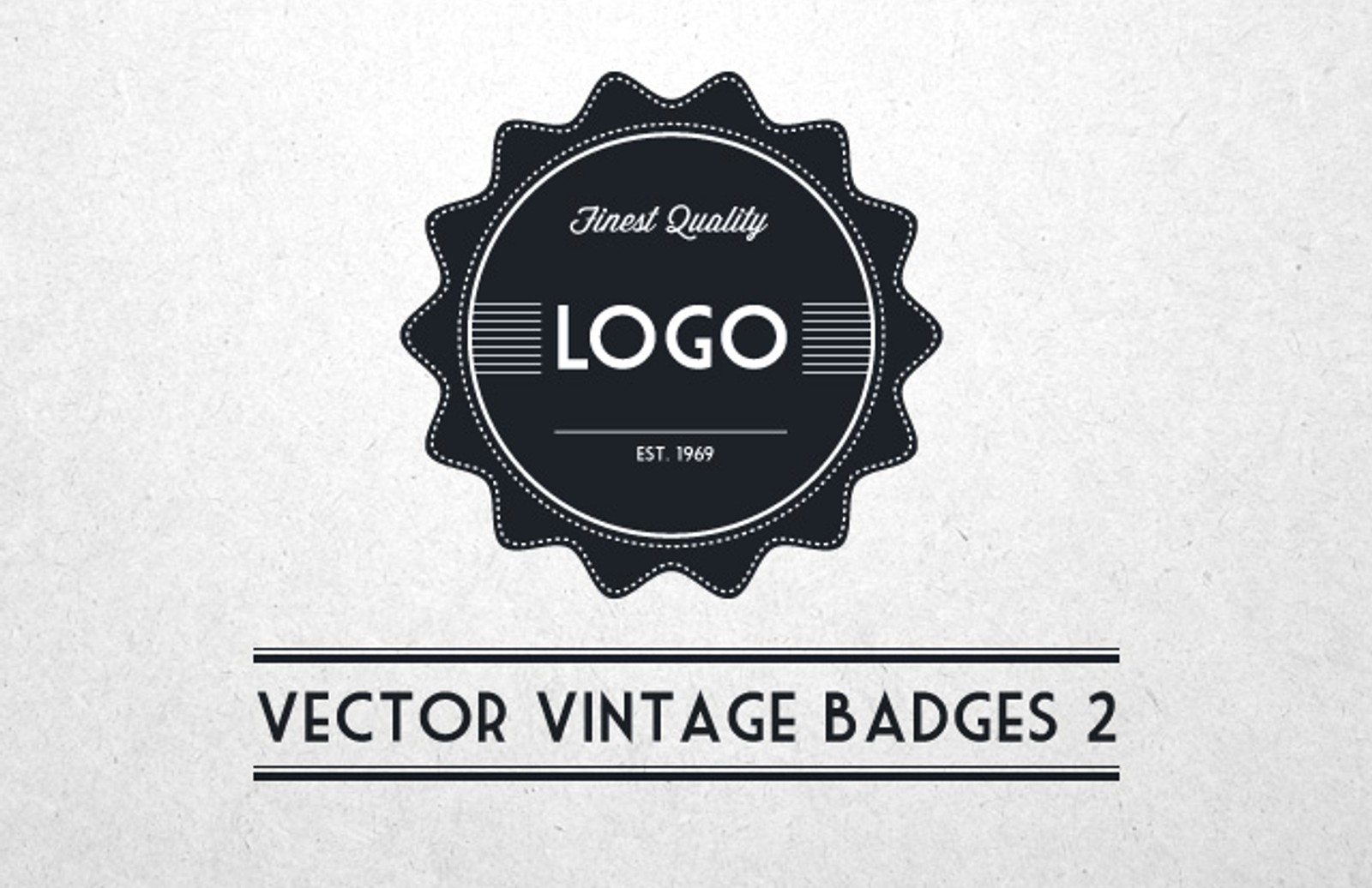 Vector  Vintage  Badges 2  Preview1