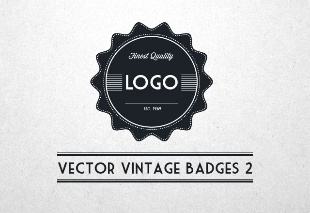Vector Vintage Badges 2