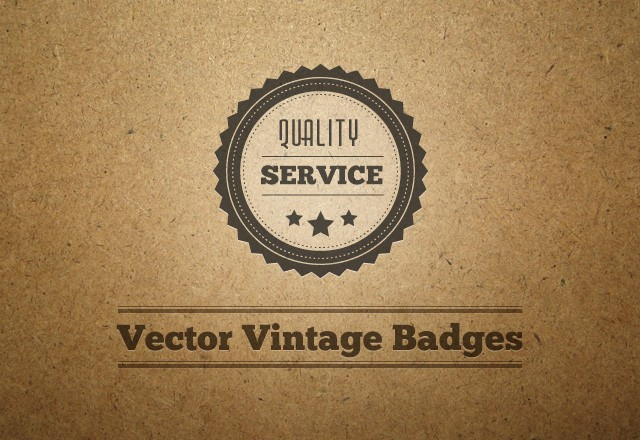 Vector Vintage Badges