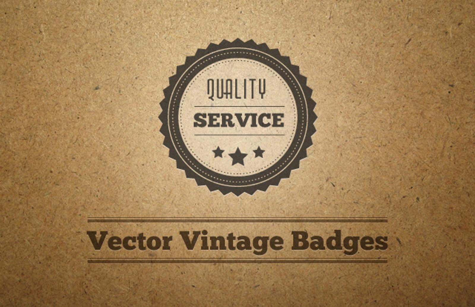 Vector  Vintage  Badges  Preview1