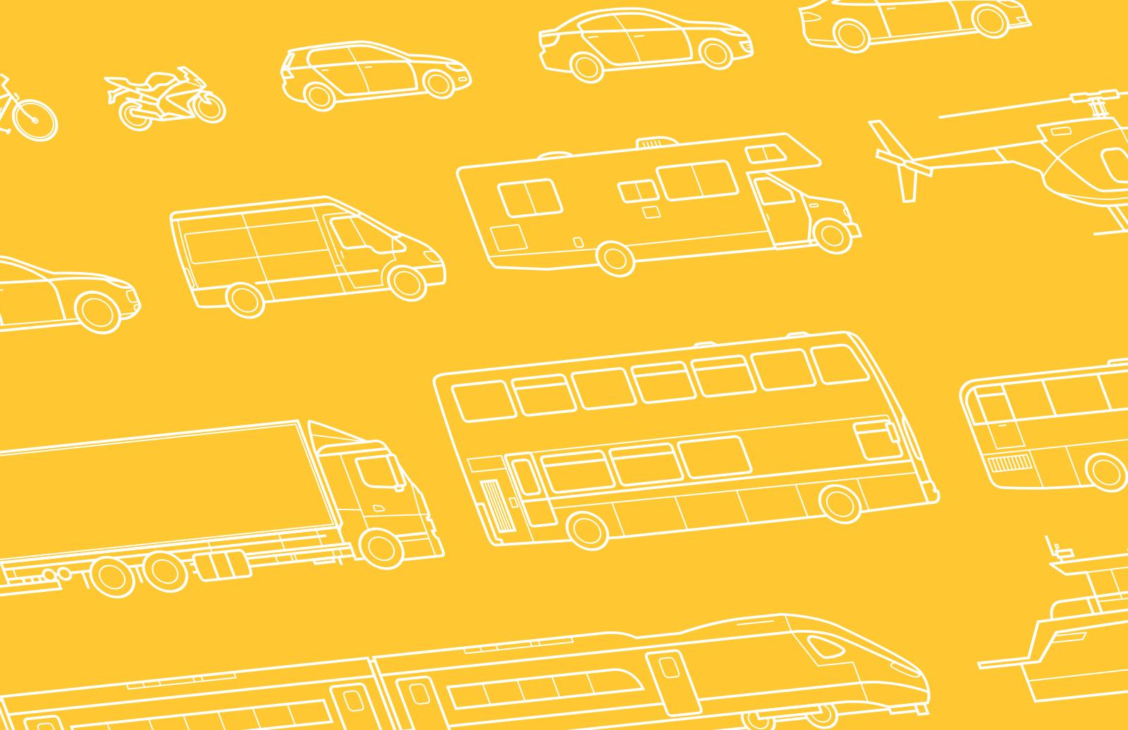 Large Vehicle  Line  Vectors  Preview 1