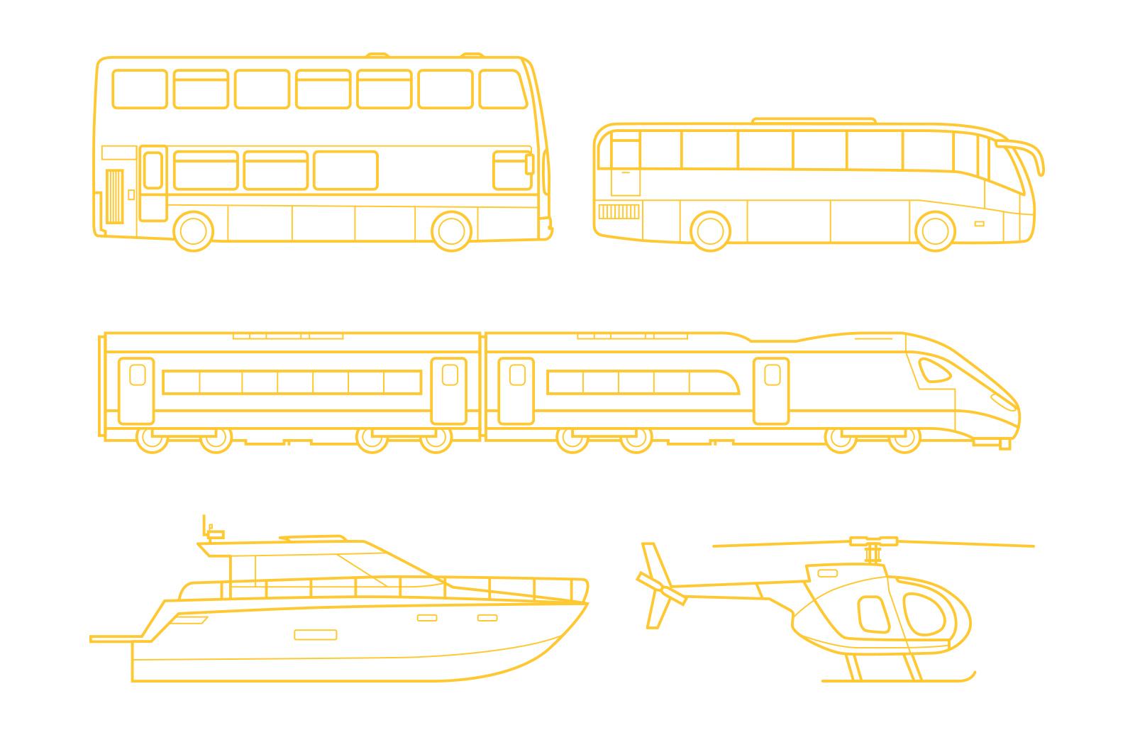 Large Vehicle  Line  Vectors  Preview 3