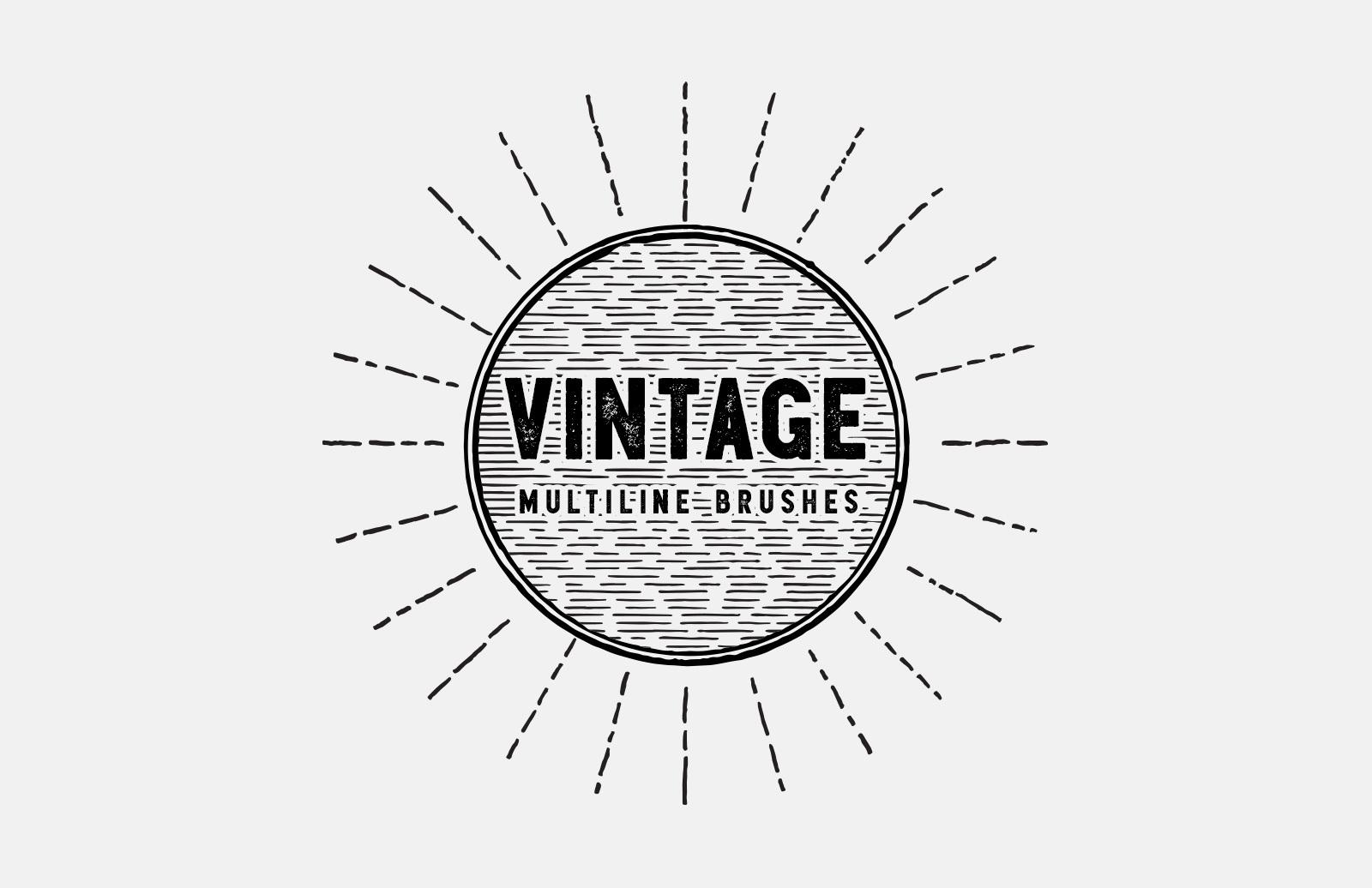 Vintage Multiline Brushes