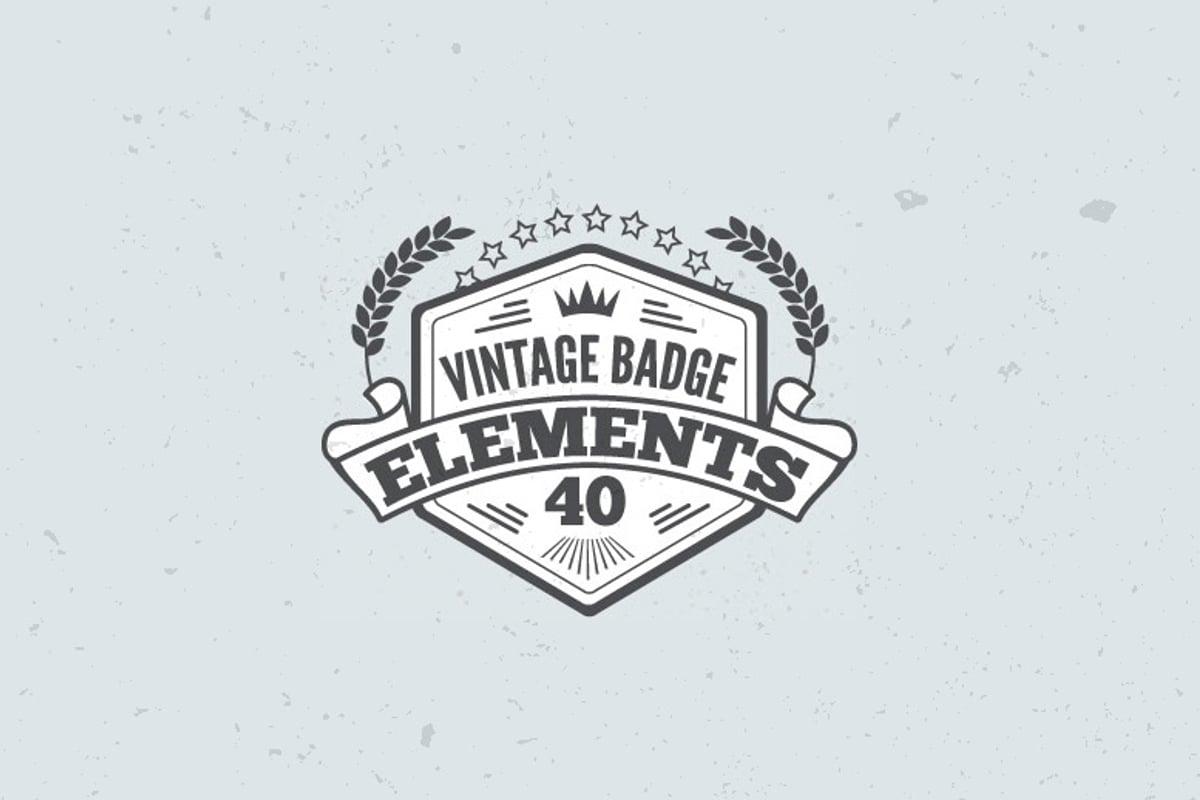 Vintage Badge Elements — Medialoot