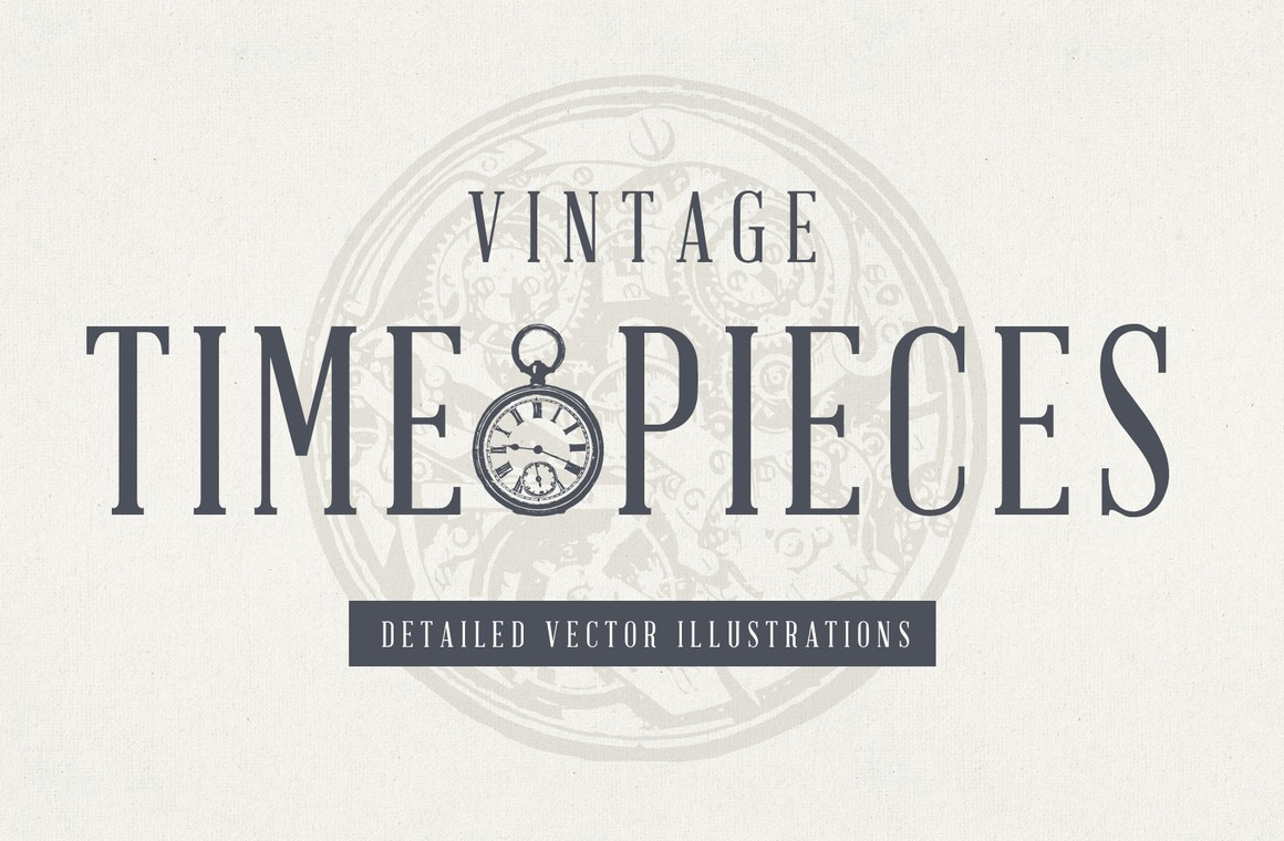 Vintage Clocks & Timepiece Illustrations