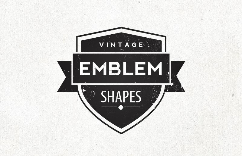 vintage emblem shapes � medialoot