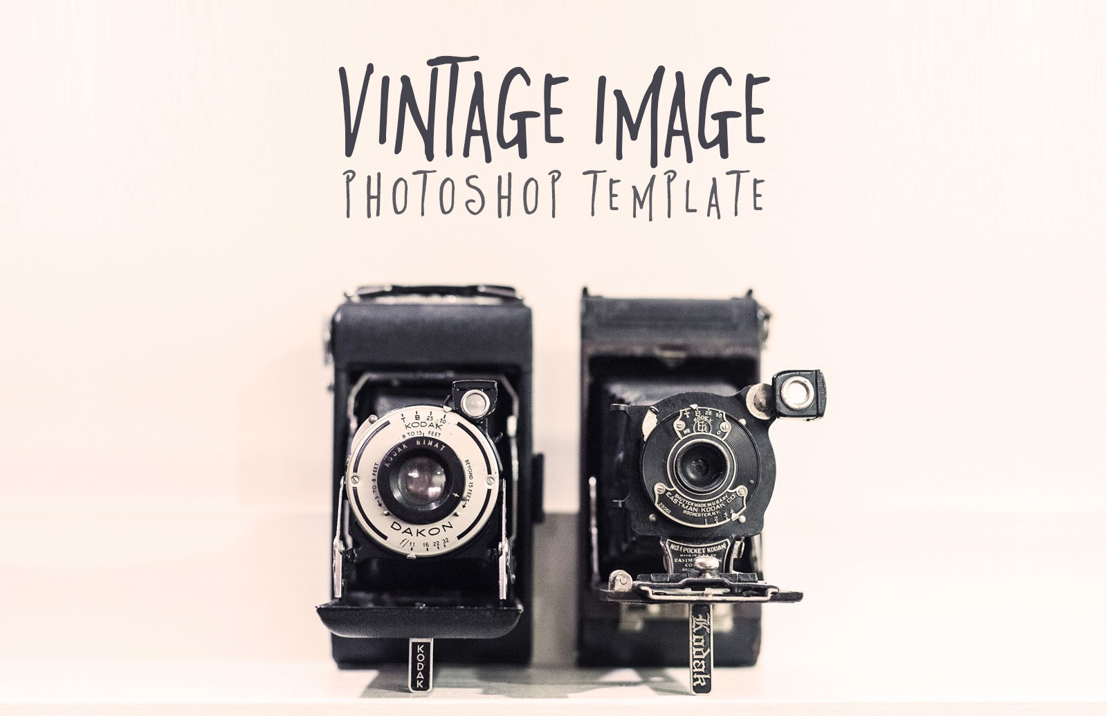Vintage Image Photoshop Template