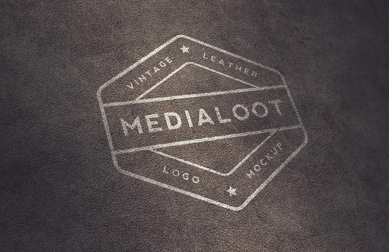 Vintage Leather Logo Mockups 1