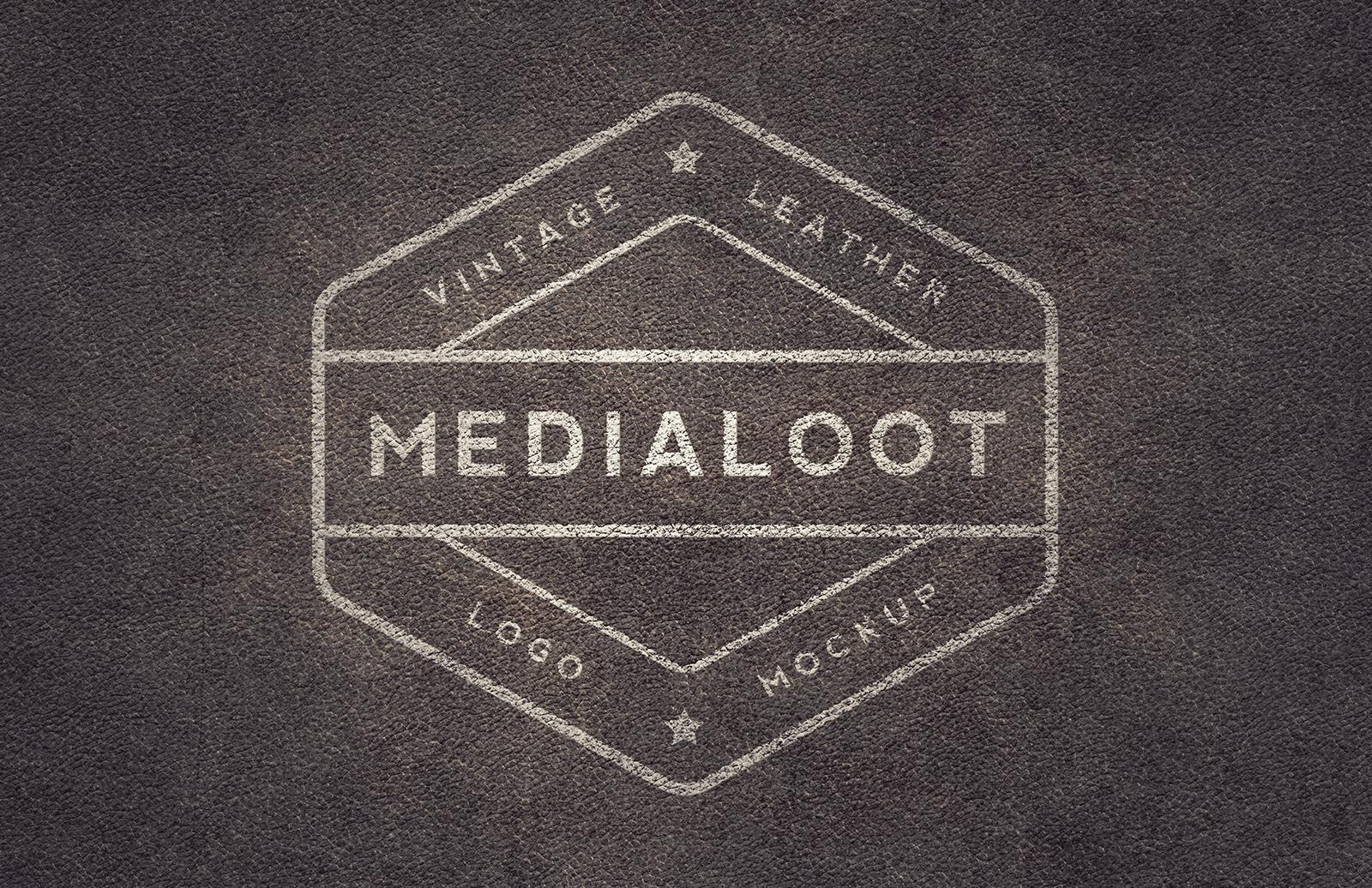 Large Vintage Leather Logo Mockups Preview 2
