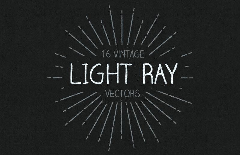 Vintage Light Ray Vectors 1