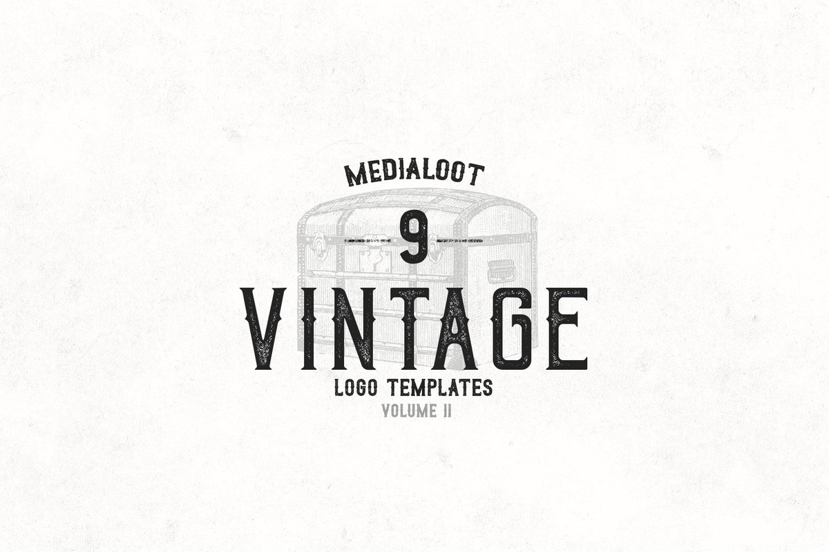vintage logo templates 2 medialoot. Black Bedroom Furniture Sets. Home Design Ideas