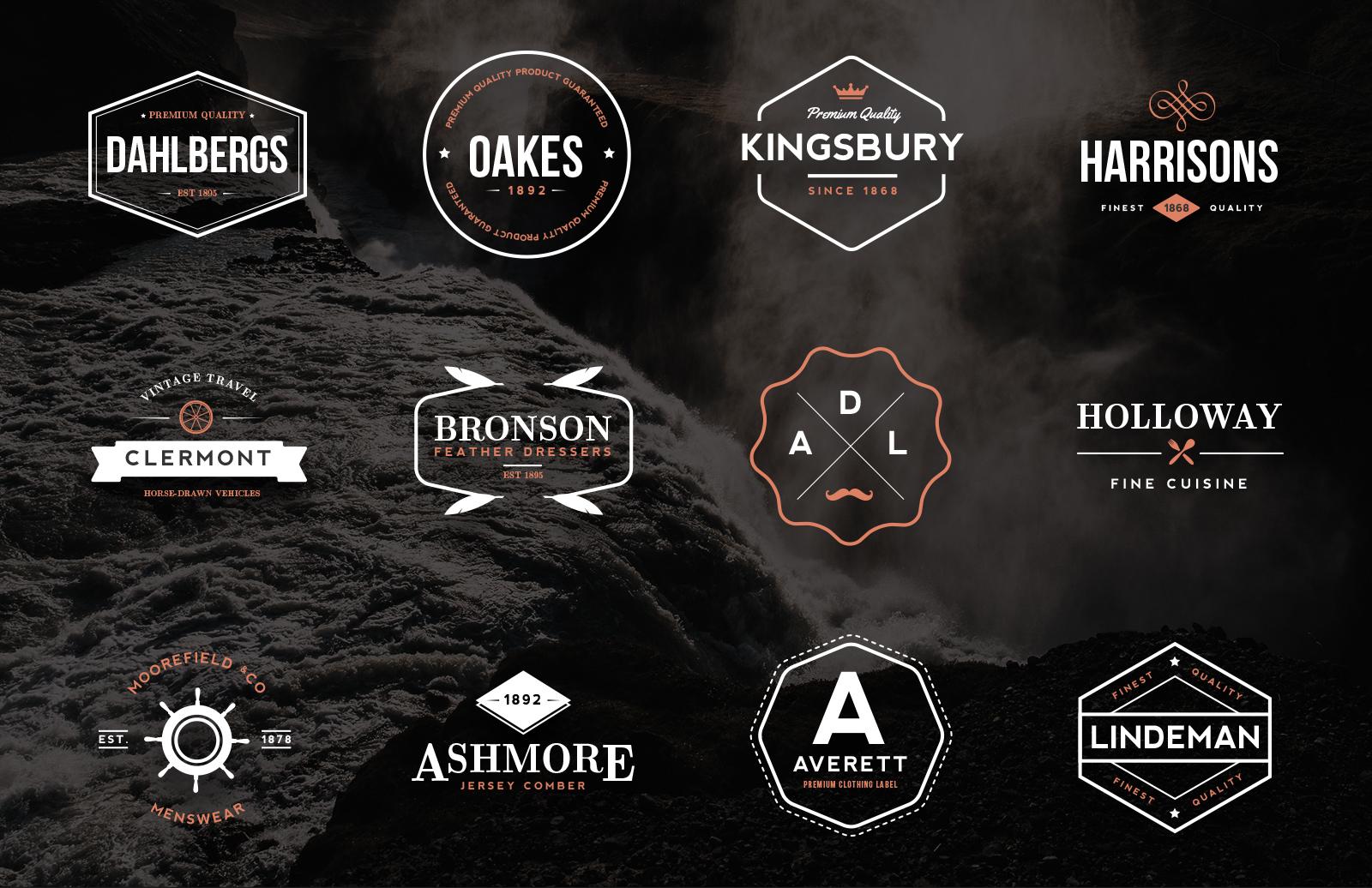 Vintage  Logos   Emblems  Preview 1