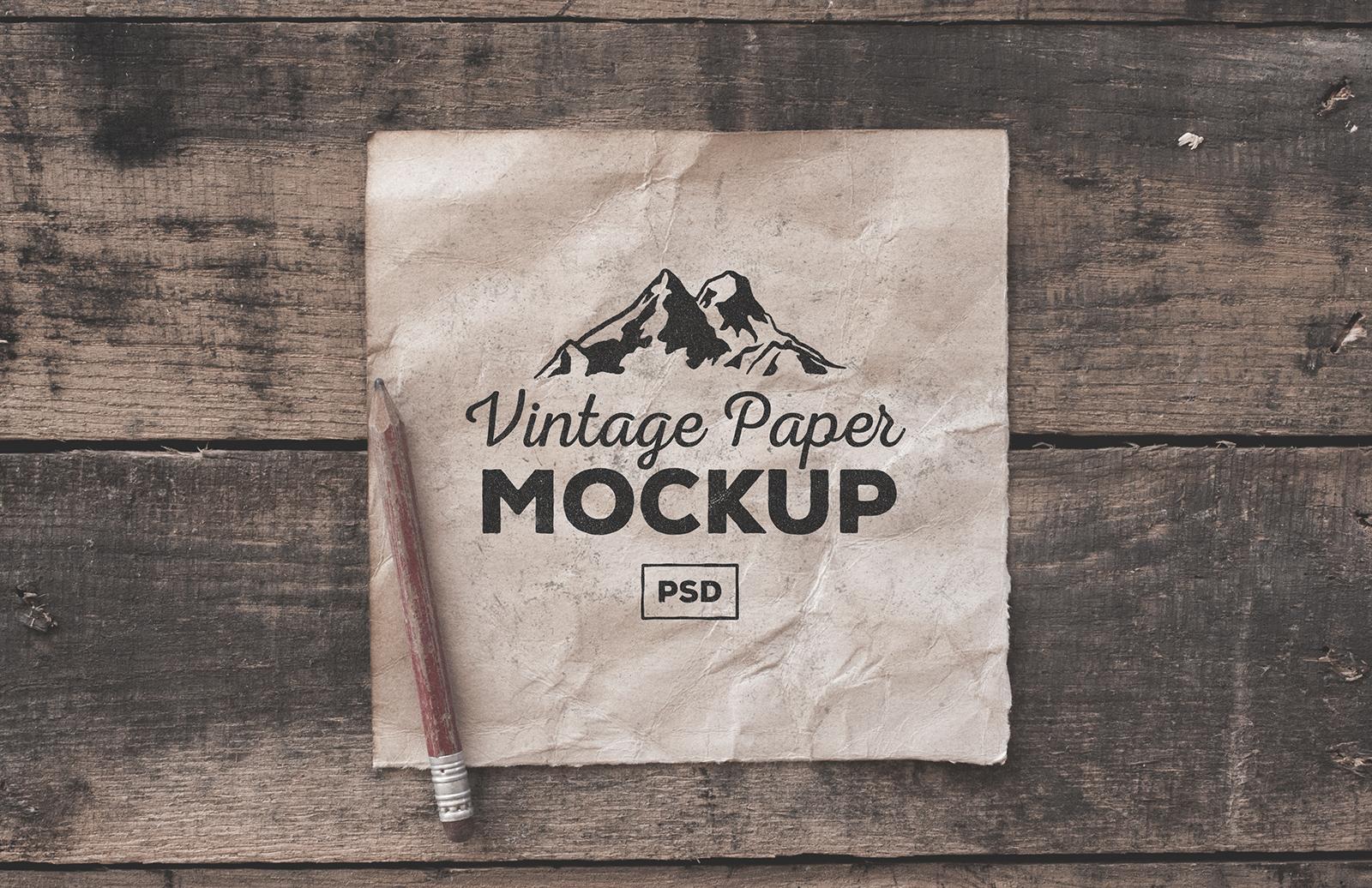 Large Vintage  Paper  Mockups  Preview 1
