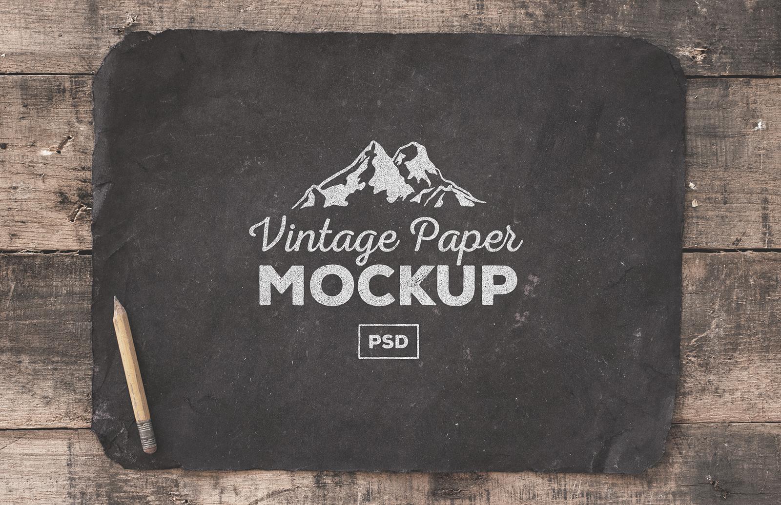 Large Vintage  Paper  Mockups  Preview 2