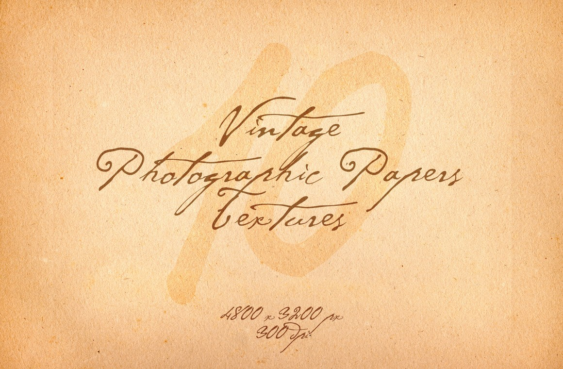 Vintage Photographic Papers Textures