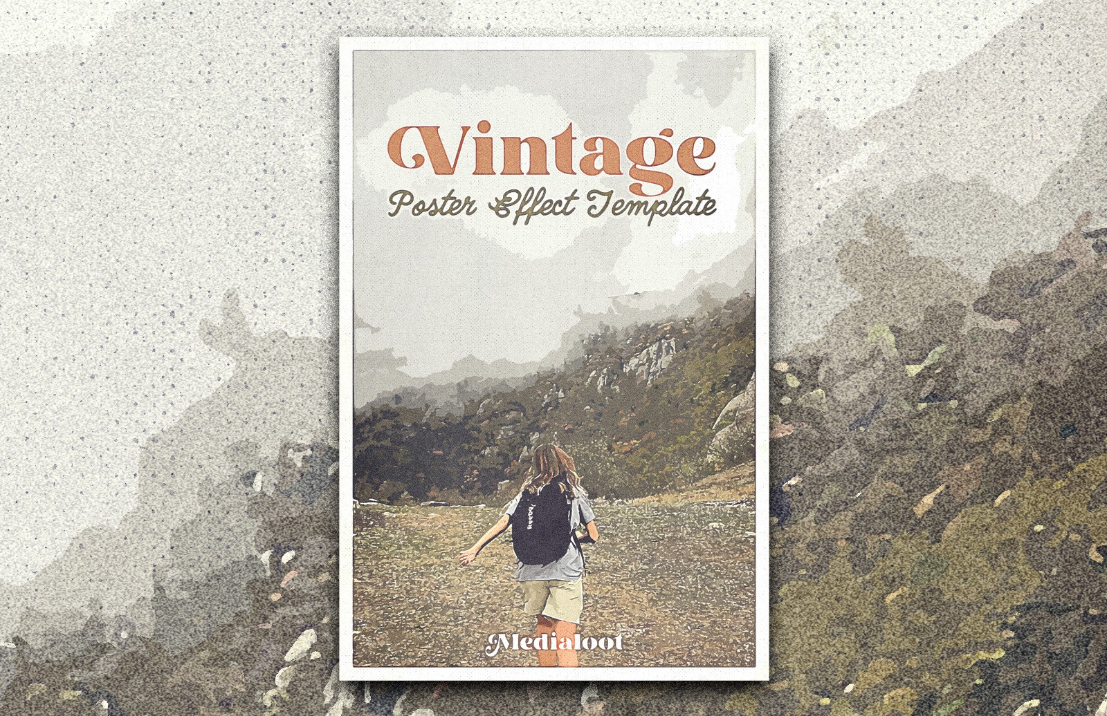 Vintage Poster Photoshop Effect Template Preview 1