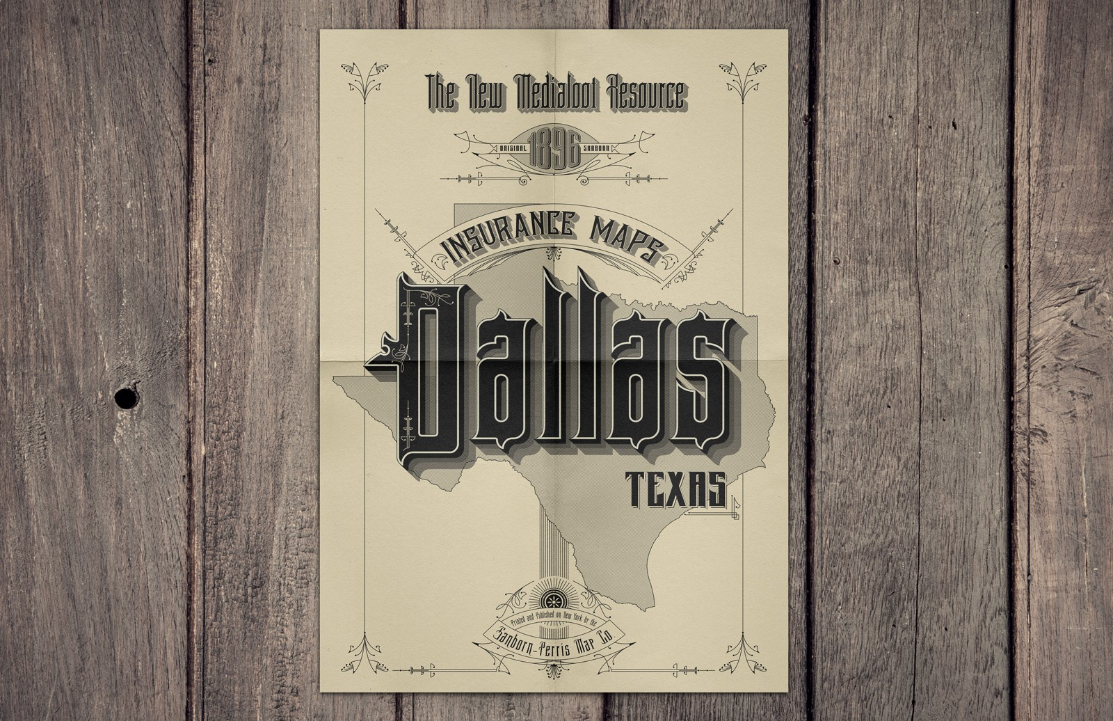 Vintage  Sanborn  Map  Poster  Mockup  Preview 1