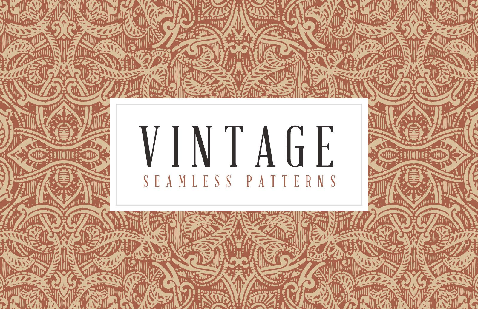 Vintage Seamless Vector Patterns Preview 1B