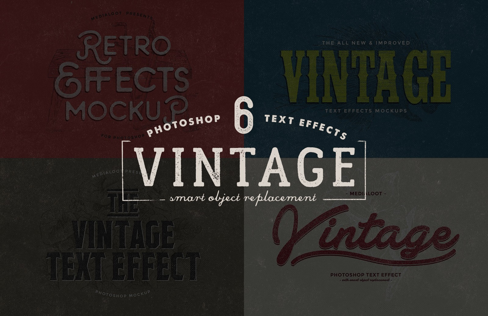 Photoshop Vintage Text Mockup
