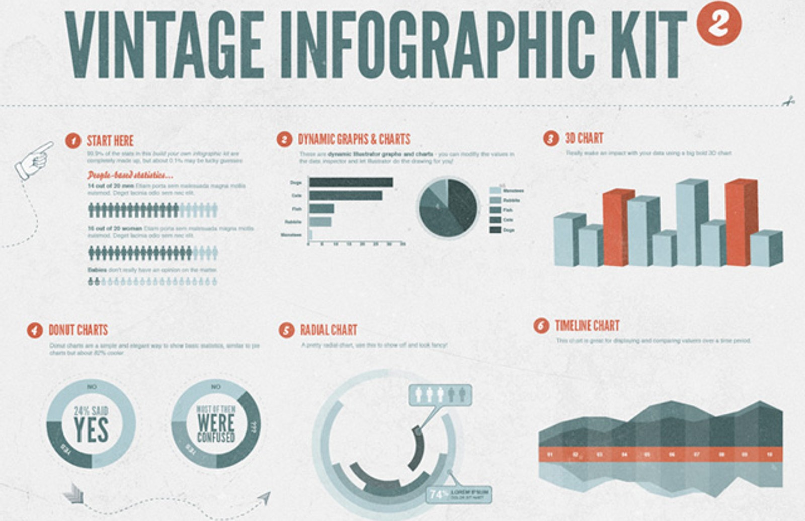 Vintage  Infographic  Kit 2013  Preview1