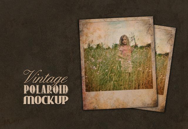 Vintage Polaroid Mockup