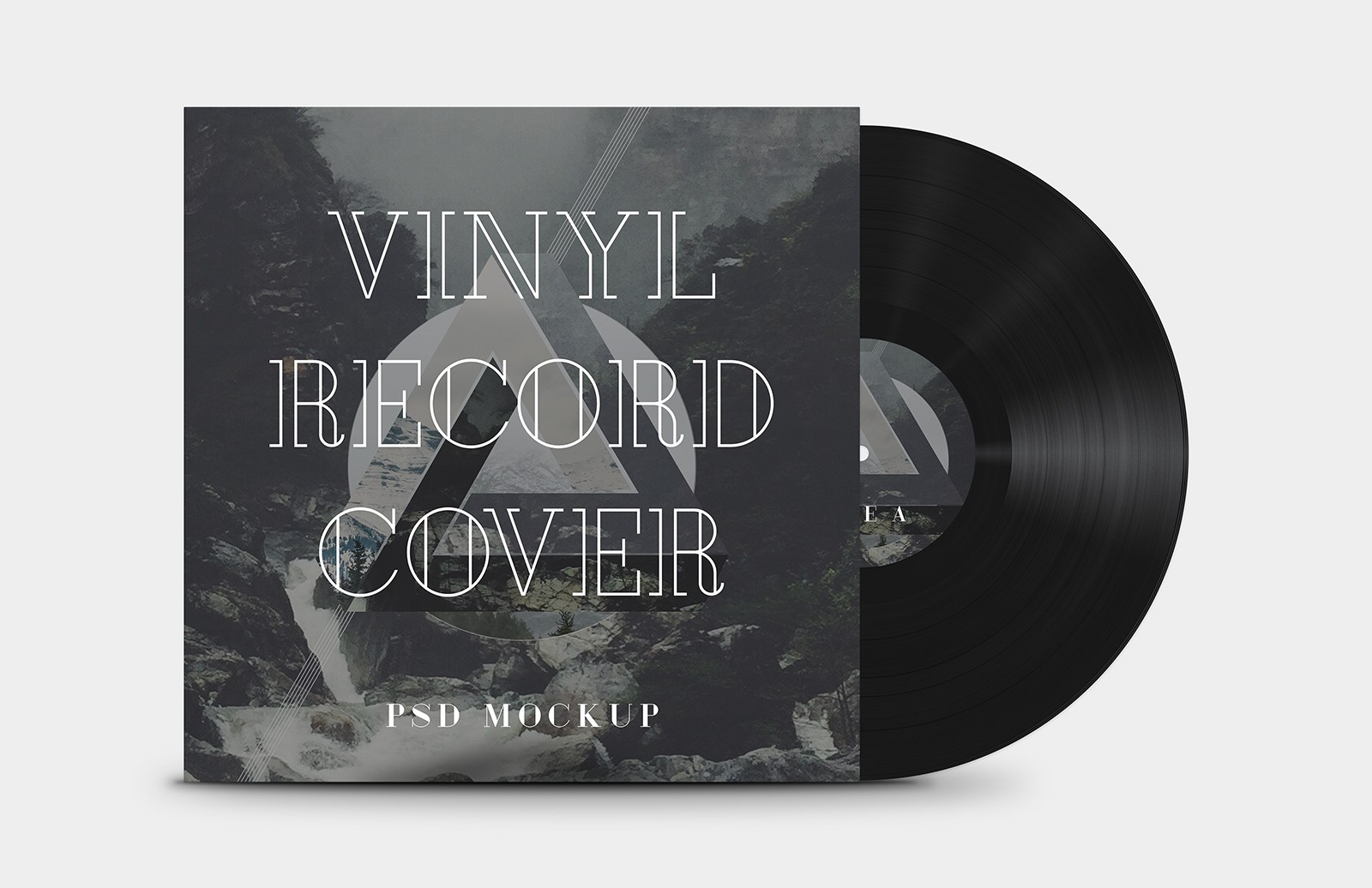 Vinyl Record Cover Mockup Preview 1