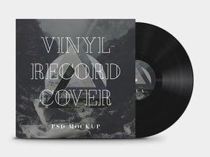 Vinyl Record Cover Mockup 1